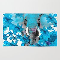elephant Area & Throw Rugs featuring Elephant  by Saundra Myles