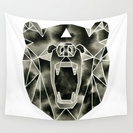 Fractured Geometric Bear Wall Tapestry
