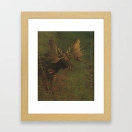 ALBERT BIERSTADT · Study of a moose Framed Art Print