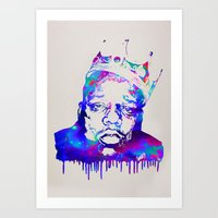 notorious big Art Prints featuring Notorious by Fimbis