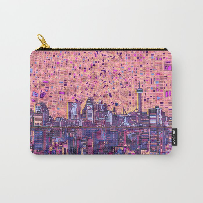 san antonio city skyline abstract 5 Carry-All Pouch