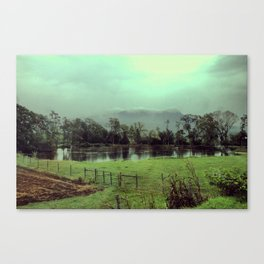 Misty Mountain Valley Canvas Print