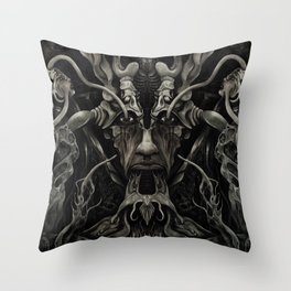 A Consumption of Memory and Identity Throw Pillow