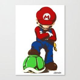 Mario Videogame Turtle Hunter Design FanArt Art Print Canvas Print