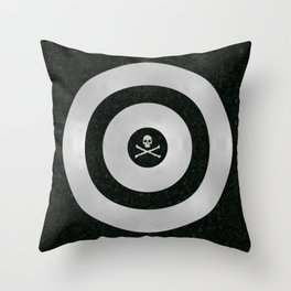 Silver Target Throw Pillow