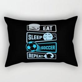 Eat Sleep Soccer Repeat Rectangular Pillow