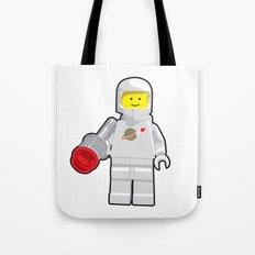 Vintage Lego White Spaceman Minifig Tote Bag