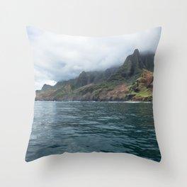 NaPali Coast No. 7 Throw Pillow
