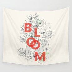 Vintage Bloom #society6 Wall Tapestry