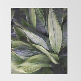 Green Jungle Throw Blanket