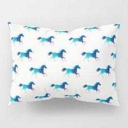 blue horse pattern Pillow Sham