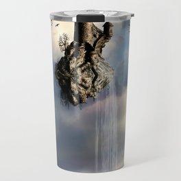 Surreal Castle Waterfall Travel Mug