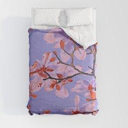 Copper Flowers on violett ground Comforters