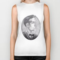 alex turner Biker Tanks featuring Alex Turner Drawing by annelise johnson
