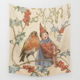 """""""A Christmas Duet"""" by Margaret Tarrant Wall Tapestry"""