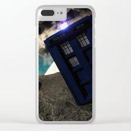 TARDIS in Grjótagjá Cave, Iceland Clear iPhone Case