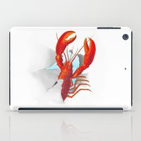 lobster iPad Cases featuring Lobster!!!!!!!!!!! by Rococco-LA
