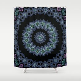 Embroidered beads pattern 2 Shower Curtain
