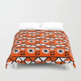 Shapes and flowers Duvet Cover