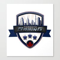 gaming Canvas Prints featuring Toronto Gaming by rramrattan