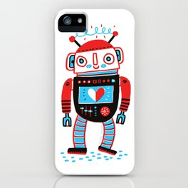 Your Robot Friend. iPhone Case