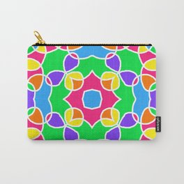 Rainbow Mosaic Symmetrical Swirls Kaleidoscope 2 Carry-All Pouch