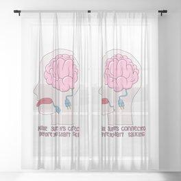 Unplugged Brain Sheer Curtain
