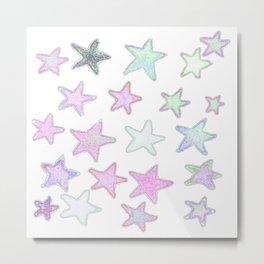 Funky Pastel Stars! Metal Print