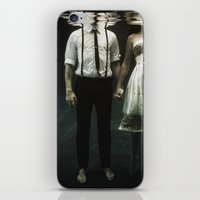 creepy iPhone & iPod Skins featuring abyss of the disheartened : IV by Heather Landis