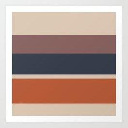 An unparagoned variation of Dark Vanilla, Charcoal Grey, Brown (Crayola) and Dark Taupe stripes. Art Print
