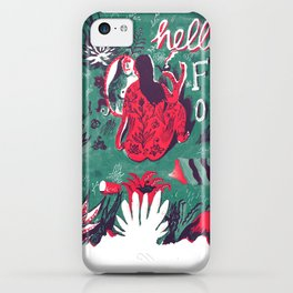Hello Flora Poster iPhone Case