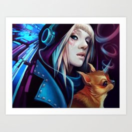 Cosmic Rays Art Print