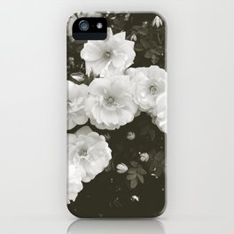 Floral in Black and White iPhone Case