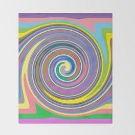 Rainbow swirl pattern Throw Blanket