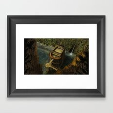 Between Mountains Framed Art Print