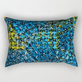 Pattern Breaker Tiles Collection: 5-9-01 Blue & Yellow Color Rectangular Pillow