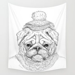 Hipster dog Wall Tapestry