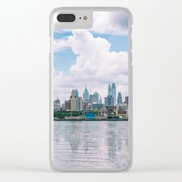 1513 - Philadelphia Cityscape from New Jersey Clear iPhone Case