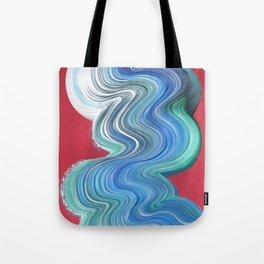 Blue Brush Stroke Tote Bag