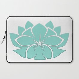 M Designs co lotus plumeria blossom Laptop Sleeve