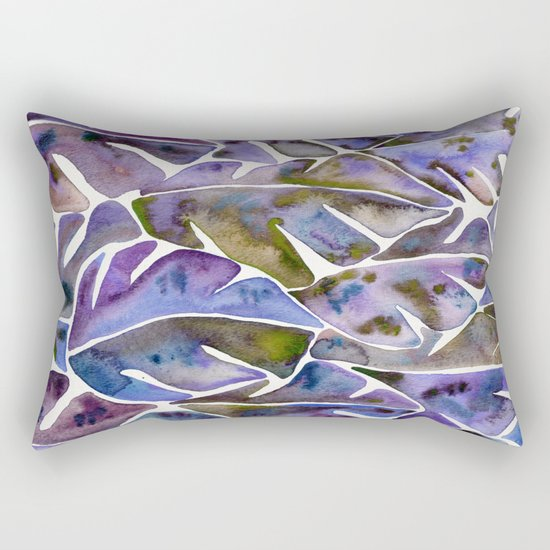 Split Leaf Philodendron – Purple Rectangular Pillow