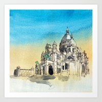 Basilica Sacre Coeur Montmartre Paris Art Print