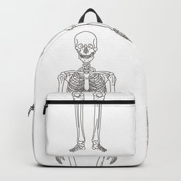 Human body skeleton Backpack
