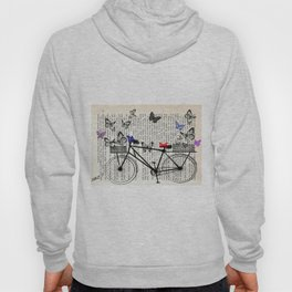 Bicycle and butterflies Hoody