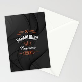 Paragliding Extreme Sport Stationery Cards