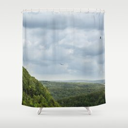 Soaring Through The Storm - Letchworth Park Shower Curtain