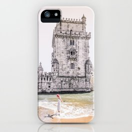 Belem Tower girl iPhone Case