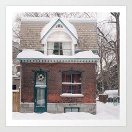 House & Snow Art Print
