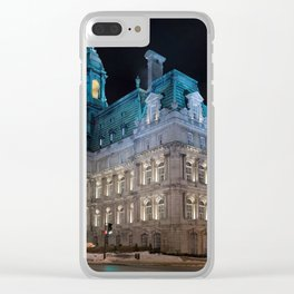 Montreal City Hall Clear iPhone Case