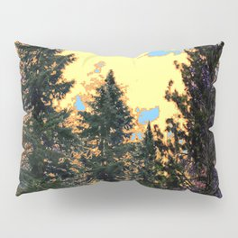 SUNNY DAY PINE TREES FOREST BROWN ART Pillow Sham